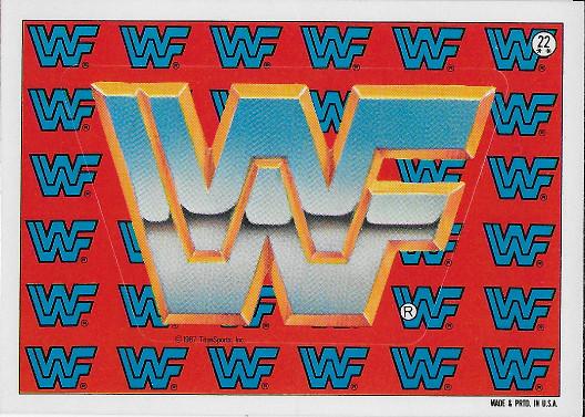 1987 Topps WWF Sticker