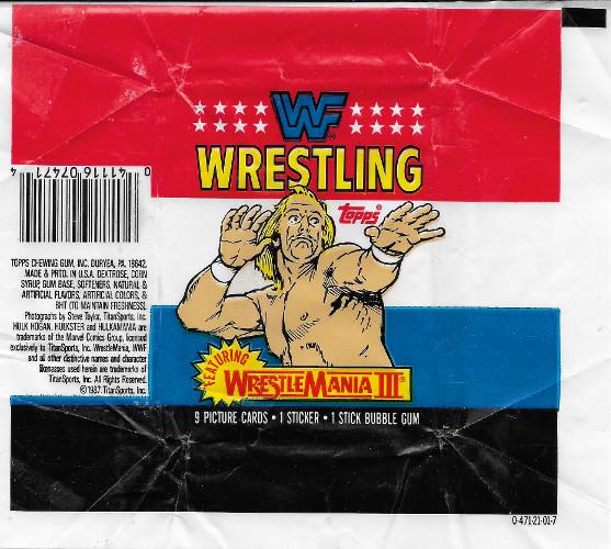 1987 Topps WWF Wax Wrapper